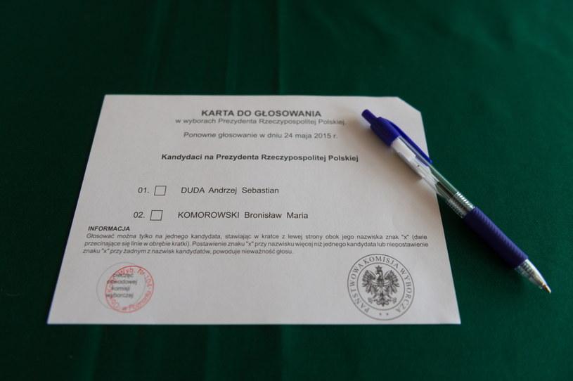 Karta do głosowania /Jakub Kaczmarczyk /PAP