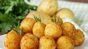 Kartoflane krokieciki z kiełbasą