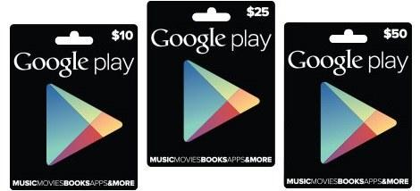 Karty upominkowe Google Play niedługo mają pojawić się w Polsce. /instalki.pl