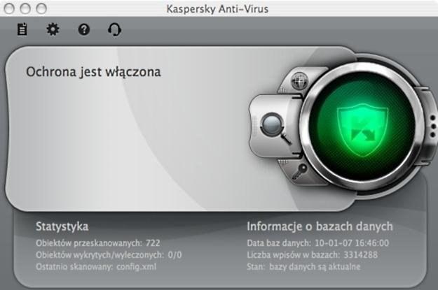 Kaspersky w wersji dla komputerów Mac - jedno z menu /materiały prasowe