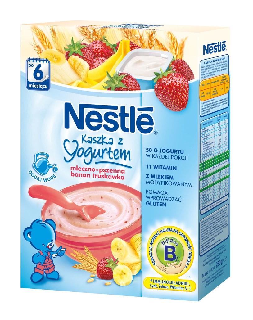 Kaszka z jogurtem bananowo-truskawkowa /INTERIA.PL/materiały prasowe