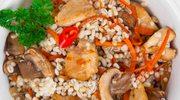 Kaszotto z kurczakiem i grzybami