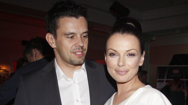 Katarzyna Glinka z mężem Przemysławem Gołdonem /fot  /AKPA