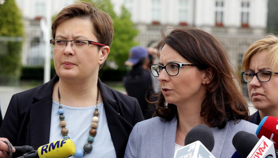 Katarzyna Lubnauer i Kamila Gasiuk-Pihowicz / Tomasz Gzell    /PAP