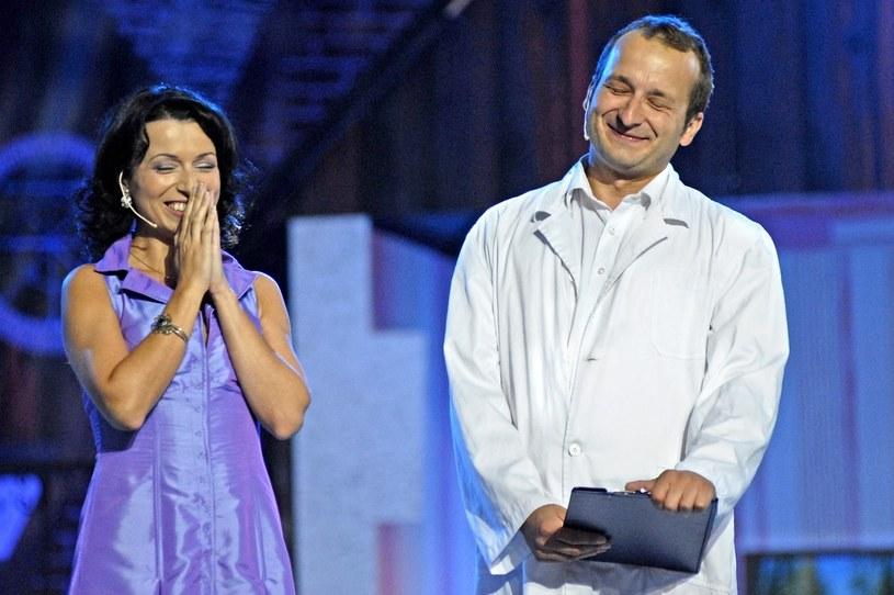 Katarzyna Pakosińska w duecie z Robertem Górskim jeszcze do niedawna tworzyli najmocniejszy punkt Kabaretu Moralnego Niepokoju /Prończyk /AKPA