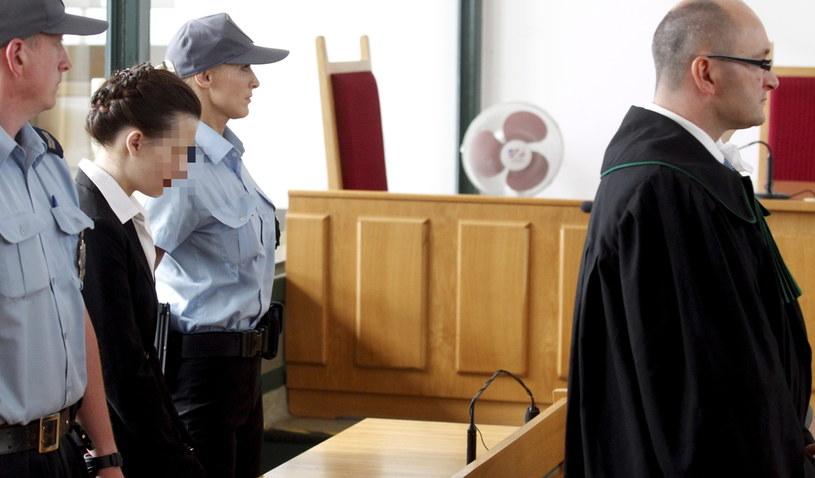 Katarzyna W. (2L) w trakcie ogłoszenia wyroku w Sądzie Okręgowym w Katowicach /Andrzej Grygiel /PAP