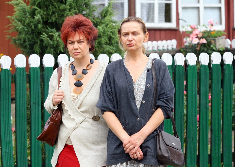 """Katarzyna Żak na planie serialu """"Ranczo"""" /Wojciech Traczyk /East News"""