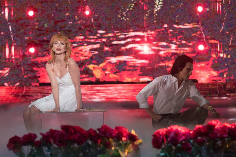 Katarzyna Zielińska i Adam Fidusiewicz jako Kylie Minogue i Nick Cave /Polsat