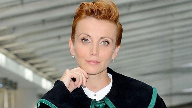 """Katarzyna Zielińska na planie """"O mnie się nie martw 2"""" /Agencja W. Impact"""