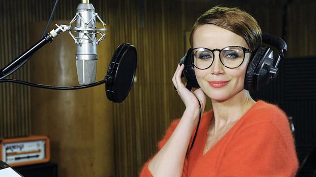 Katarzyna Zielińska w studiu nagraniowym. /Niemiec /AKPA