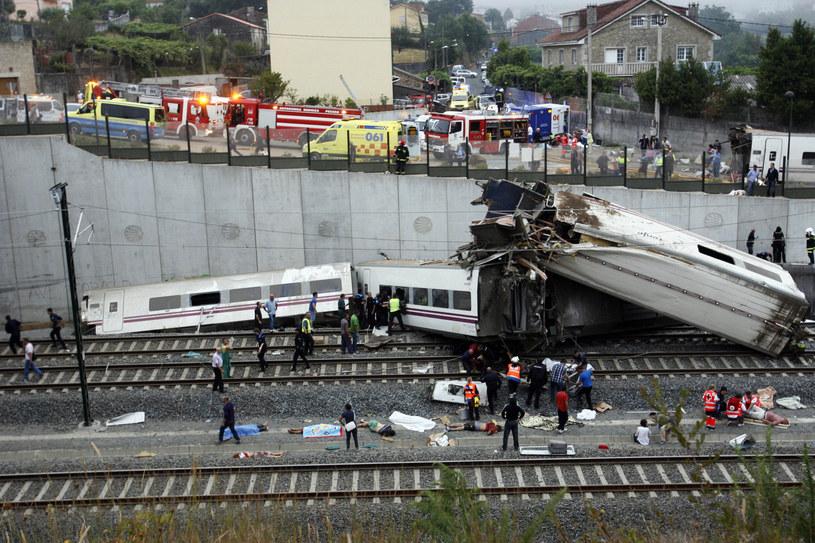 Katastrofa kolejowa pod Santiago de Compostela /AFP