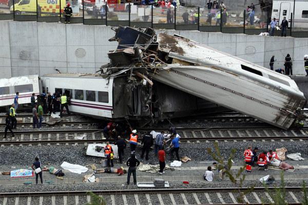 Katastrofa kolejowa pod Santiago de Compostela