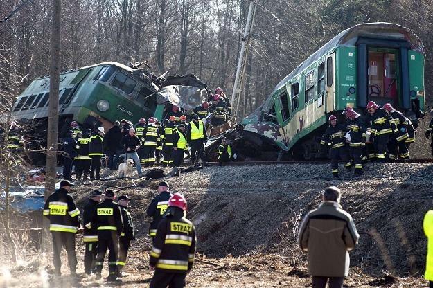 Katastrofa pod Szczekocinami /AFP