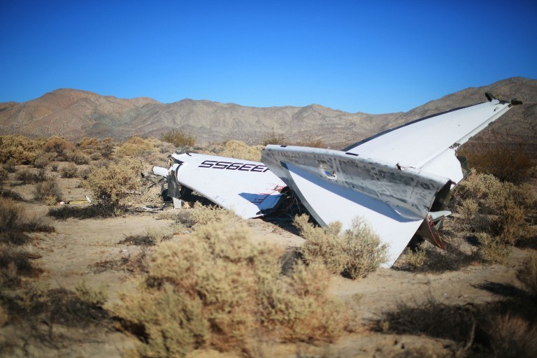 Katastrofa SpaceShipTwo /AFP