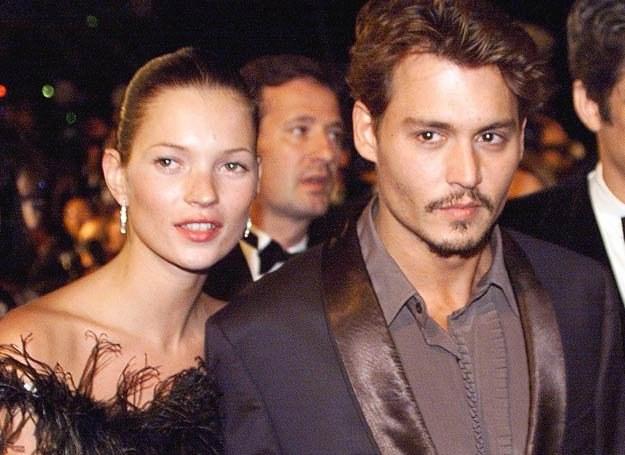 Kate Moss i Johnny Depp /AFP