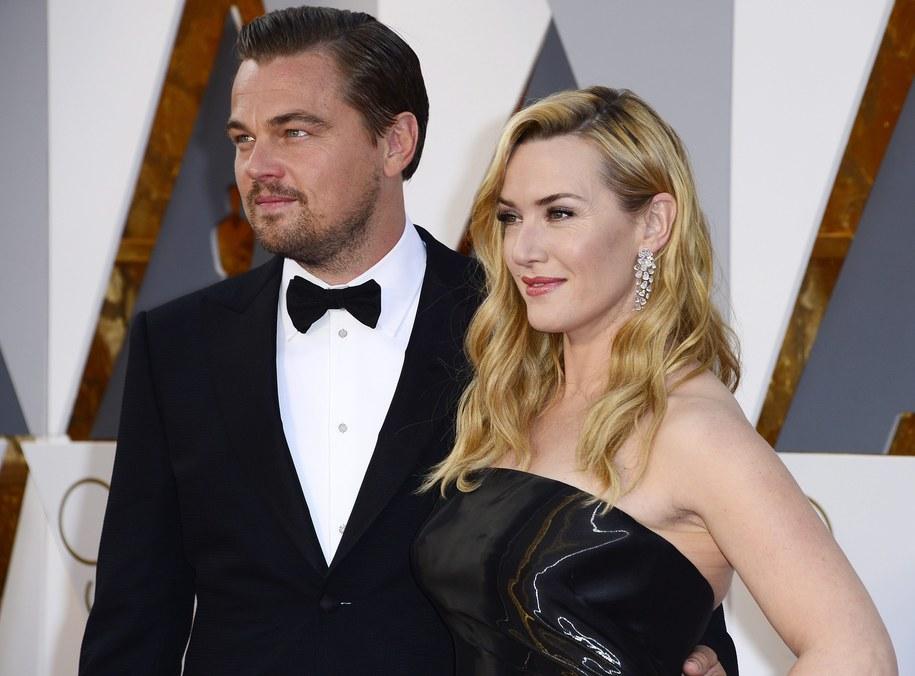 Kate Winslet i Leonardo DiCaprio przed oscarową galą w lutym 2016 roku /MIKE NELSON /PAP/EPA