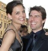 Katie Holmes i Tom Cruise podczas pobytu we Włoszech /AFP