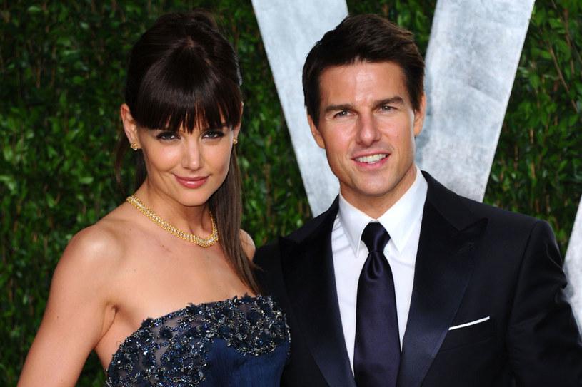 Katie i Tom w lutym 2012 /Getty Images/Flash Press Media