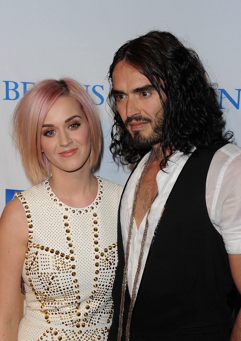 Katy z byłym mężem, Russellem Brandem /Getty Images