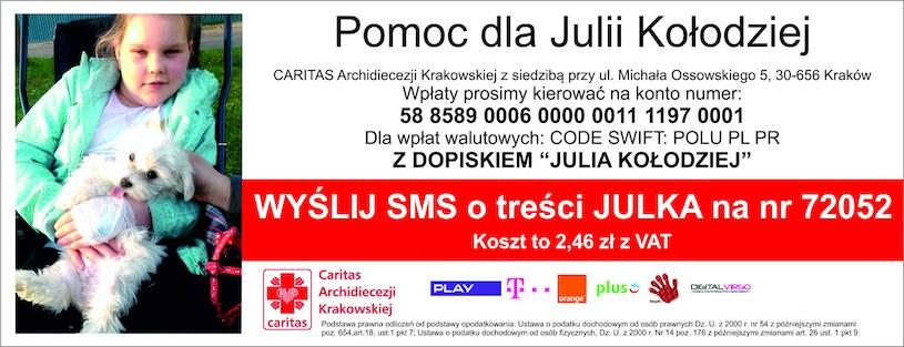 Każdy może pomóc w zbieraniu środków na leczenie Julii Kołodziej /
