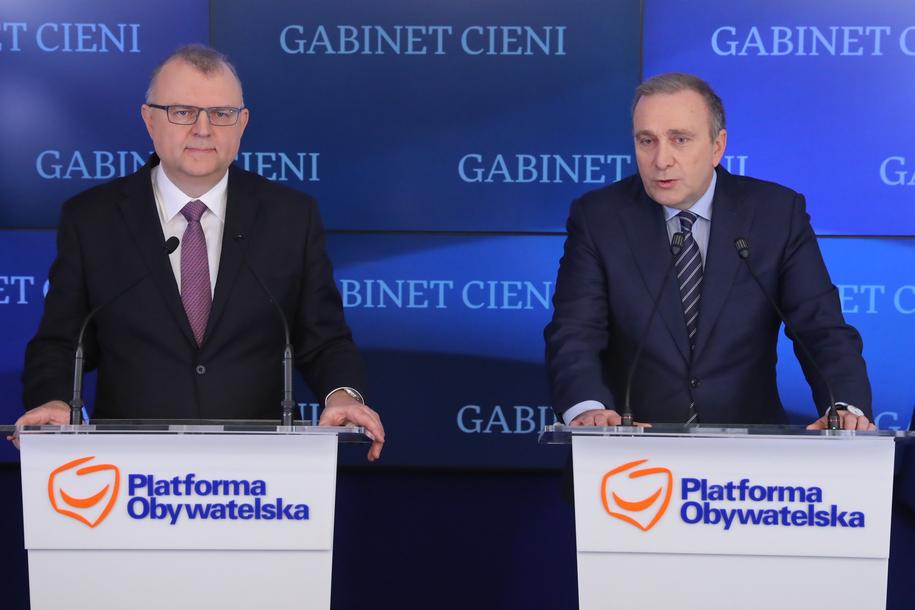 Kazimierz Michał Ujazdowski i Grzegorz Schetyna /Tomasz Gzell   /PAP