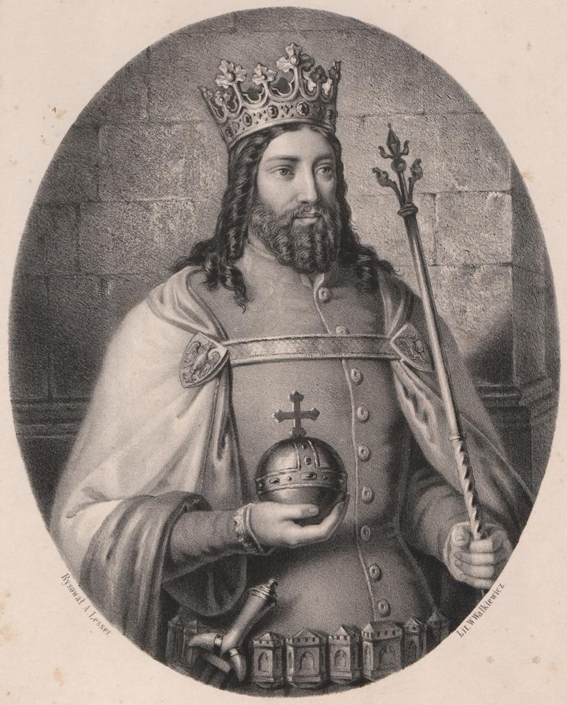 Kazimierz Wielki w wyobrażeniu A. Lessera /Ciekawostki Historyczne