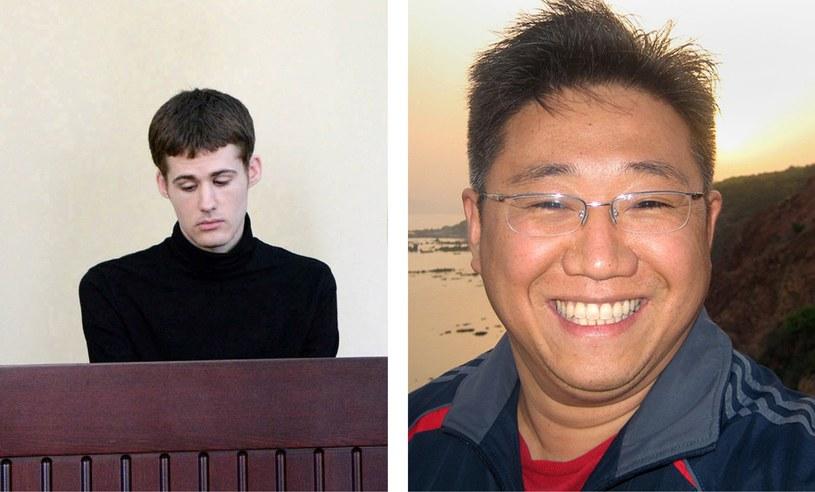 Kenneth Bae (z prawej) i Matthew Todd Miller /AFP
