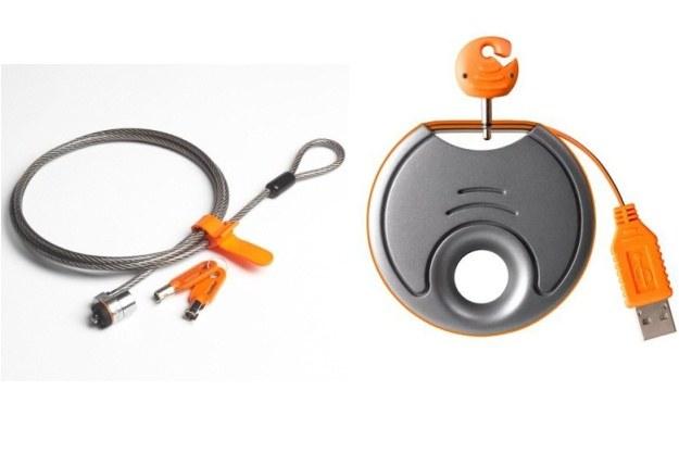 Kensington MicroSaver i Belkin F5L013 USB Laptop Security Alarm - mechaniczna ochrona laptopów /materiały prasowe