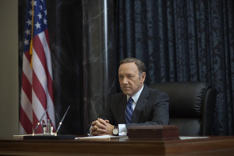 """Kevin Spacey jako Frank Underwood w serialu """"House of Cards"""" /materiały prasowe"""