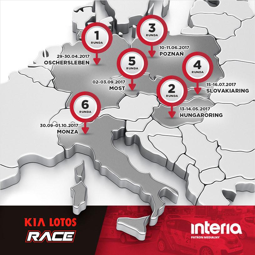 Kia Lotos Race 2017 - mapa /interia /INTERIA.PL