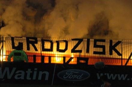 Kibice Groclinu nie popisali się w Kielcach/fot. Błażej Przybył /Agencja Przegląd Sportowy