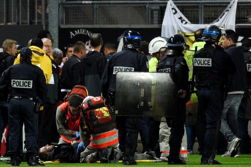 Kibicom była udzielana pomoc na meczu Amiens - Lille /AFP