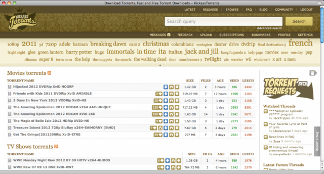Kickass Torrents /