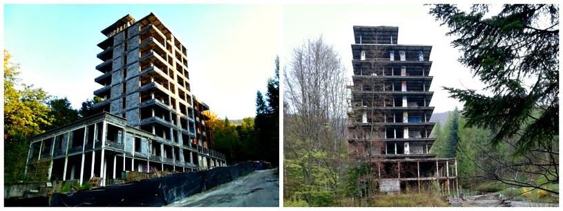 Kiczora - po lewej stan obecny, z prawej zdjęcie z kwietnia 2014 r. /Rafał Walerowski /INTERIA.PL