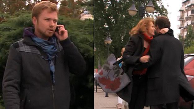 """Kiedy kochankowie spotykają się w centrum miasta, przypadkiem widzi ich Daniel!/ Kadr z 1722. odcinka """"Na Wspólnej"""". /TVN"""