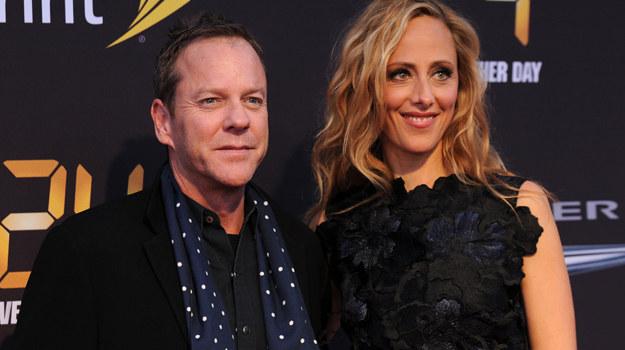 """Kiefer Sutherland i Kim Raver podczas premiery """"24: Jeszcze jeden dzień"""" /Bryan Bedder /Getty Images"""