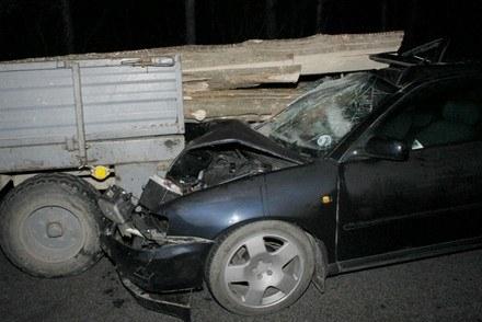 Kierowca audi stracił zęby /INTERIA.PL/Policja.pl