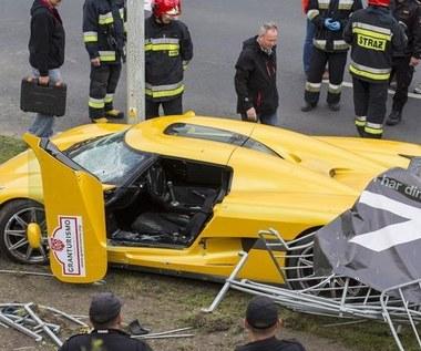Kierowca Koenigsegg podejmował błędne manewry