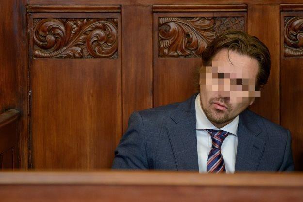 Kierowca Koenigsegga podczas rozprawy w sądzie /PAP