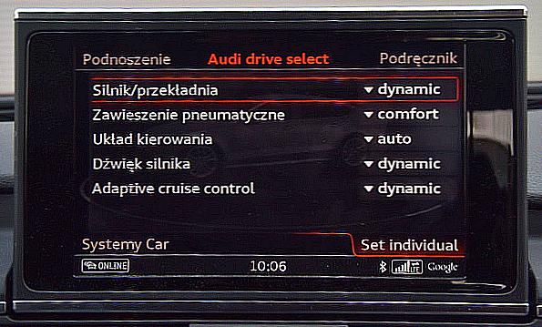 Kierowca może wpływać na pracę układów napędowego i kierowniczego, a także zawieszenia czy tempomatu. Da się też wzmocnić dźwięk silnika. /Motor