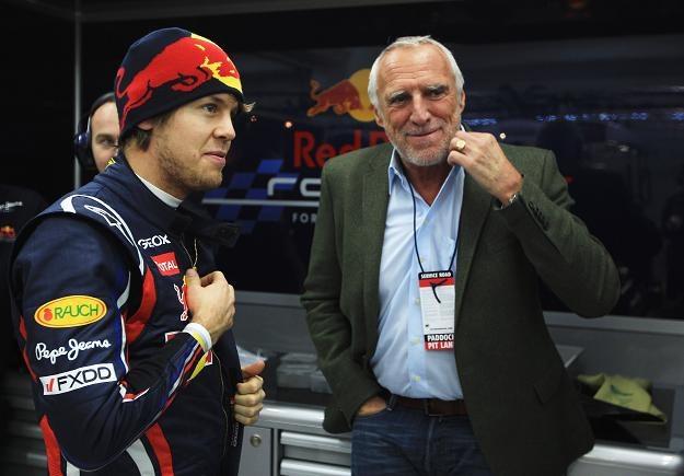 Kierowca Sebastian Vettel ze swoim pryncypałem Dietrichem Mateschitzem/fot. Mark Thompson /INTERIA.PL