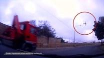 Kierowca sfilmował katastrofę awionetki