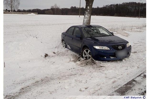 Kierowca tego samochodu miał 3 promile... /