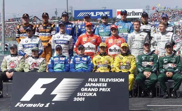 Kierowcy F1 w sezonie 2001 (kliknij) /poboczem.pl