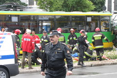 Kilkadziesiąt osób poszkodowanych w zderzeniu dwóch tramwajów w Poznaniu