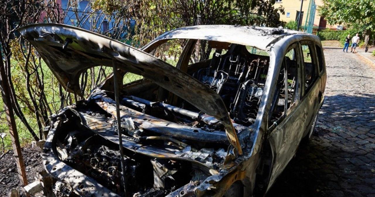 Kilkanaście aut spłonęło w nocy w Gdańsku