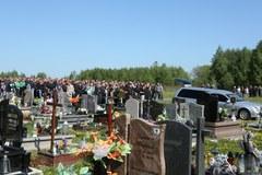 Kilkuset kibiców na pogrzebie 27-latka z Knurowa