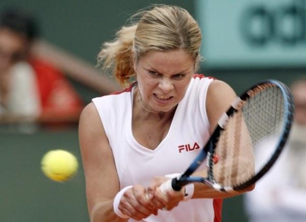 Kim Clijsters problemy miała tylko w II secie /AFP