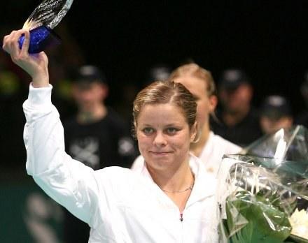 Kim Clijsters wróciła do gry i odniosła zwycięstwo w Hasselt /AFP