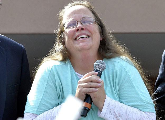 Kim Davis po uwolnieniu z aresztu, 8.09.2015 /AP/FOTOLINK /East News
